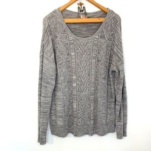 Mossimo gray and tan knit sweater